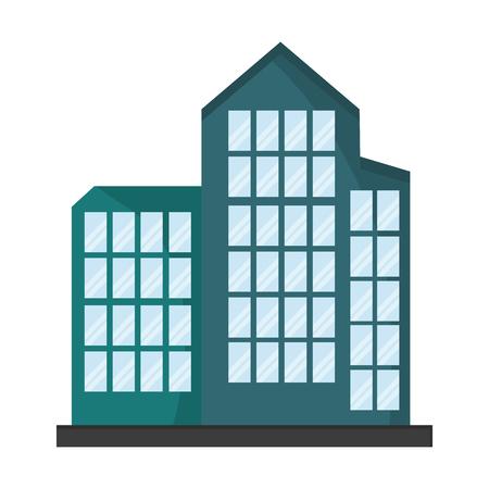 Company building architecture symbol vector illustration graphic design