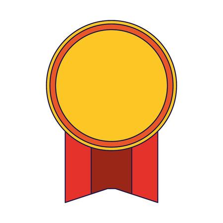 Award ribbon emblem symbol vector illustration graphic design Çizim