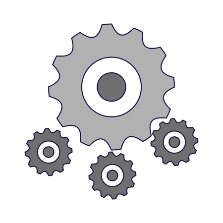 Gears machinery piece symbol vector illustration graphic design Illustration