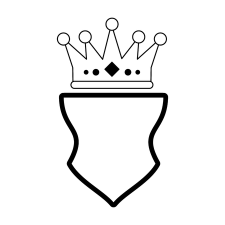 Badge emblem with crown symbol vector illustration graphic design