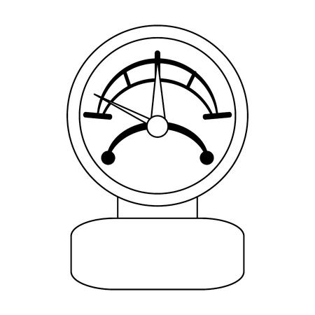 manometer pressure device isolated vector illustration graphic design Illustration