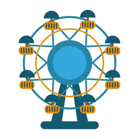 Ferris wheel cartoon symbol vector illustration graphic design