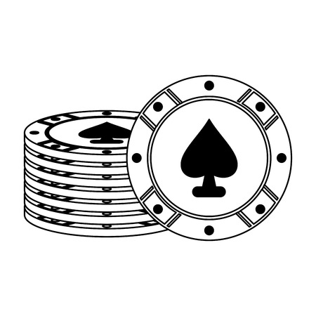 Casino ace chips game vector illustration graphic design