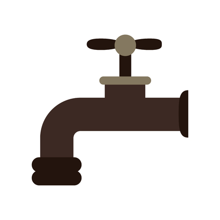 Water tap cartoon isolated vector illustration graphic design Ilustrace