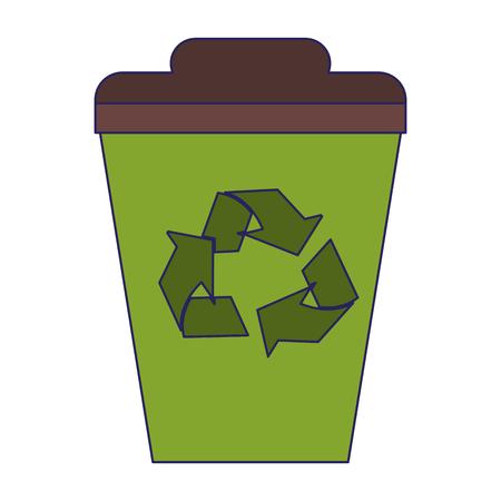 Recycle trash can symbol vector illustration graphic design Illustration