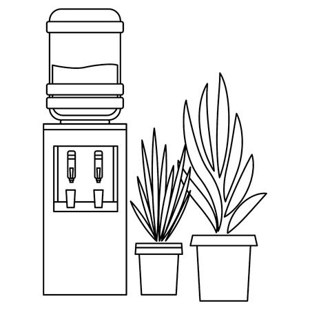 furniture decoration water dispenser vector illustration graphic design