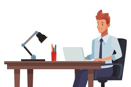 business office businessman vector illustration graphic design