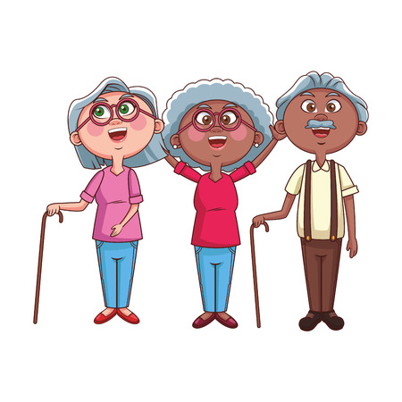 elder people cheerful vector illustration graphic design