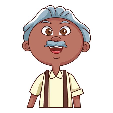 grandfather elder afro vector illustration graphic design