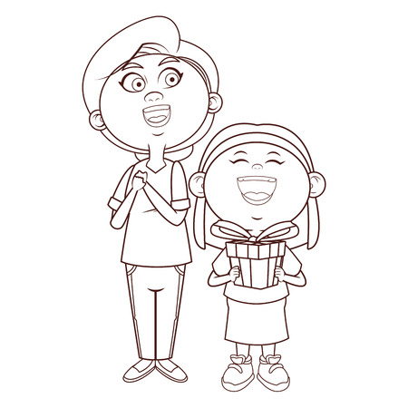 grandmother elder person grandchild vector illustration graphic design 免版税图像 - 125266531