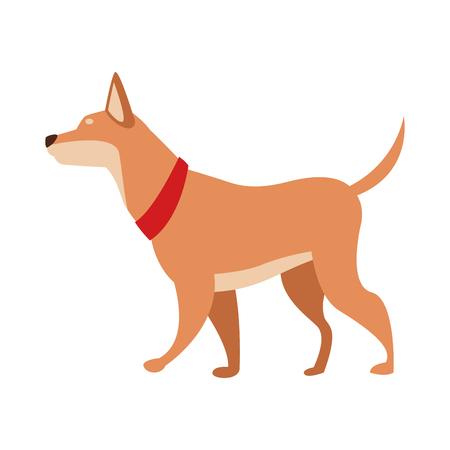 dog animal pet vector illustration graphic design Stock Illustratie