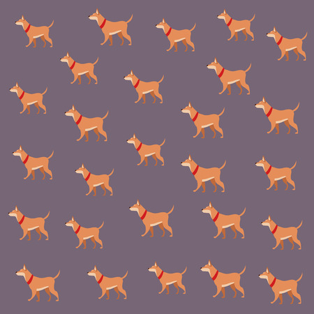 dog animal pet wallpaper decoration vector illustration graphic design