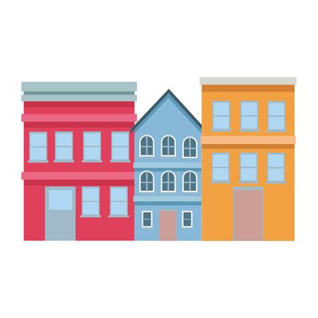 neighbor house modern vector illustration graphic design