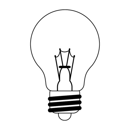 bulb light energy symbol vector illustration graphic design