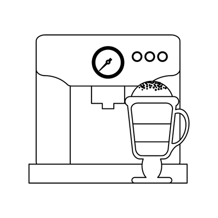 Espresso and capuccino cartoons vector illustration graphic design Stock Illustratie