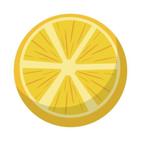 orange half cut fresh fruit cartoon vector illustration graphic design