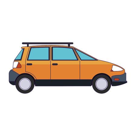 Familiar car vehicle sideview symbol vector illustration graphic design