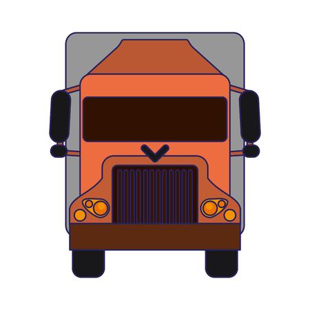 Truck vehicle frontview symbol vector illustration graphic design