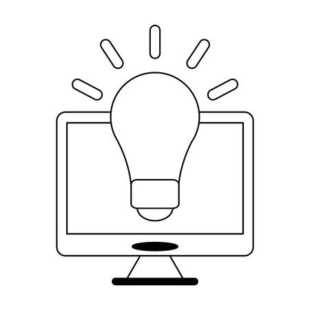 große Idee auf Computersymbol-Vektorillustrationsgrafikdesign