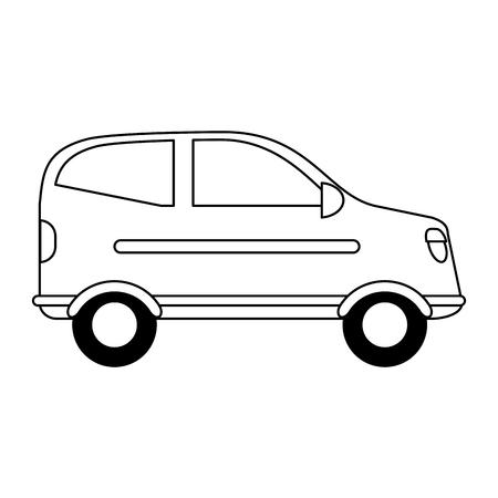 Caricature de sideview de véhicule de voiture isolé vector illustration graphisme