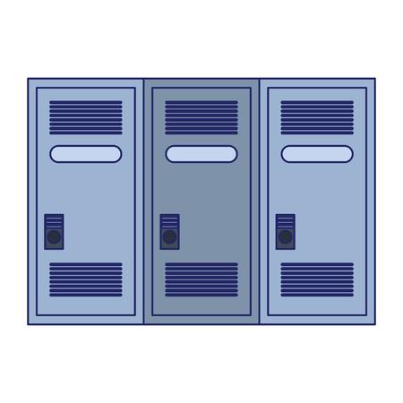 gym lockers storage isolated vector illustration graphic design