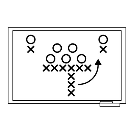 American football strategy on blackboard symbol vector illustration graphic design Ilustração