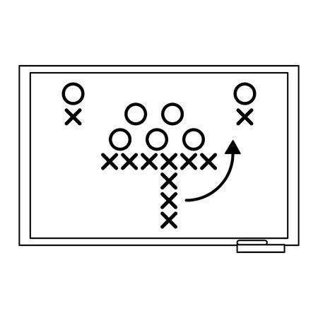 American football strategy on blackboard symbol vector illustration graphic design Illustration