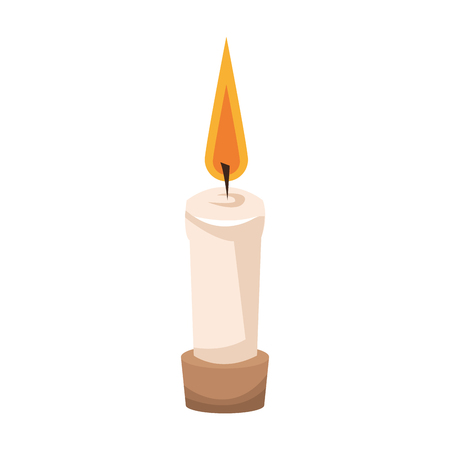 SPA aromatherapy candle isolated vector illustration graphic design