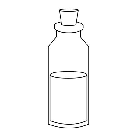 Spa oil bottle with cork vector illustration graphic design