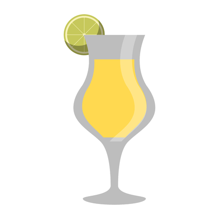Cocktail glass cup with lemon vector illustration graphic design Ilustrace