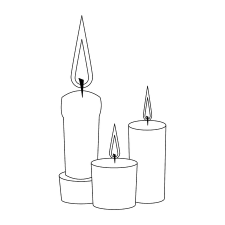 Spa and beauty aromatherapy candles isolated vector illustration graphic design