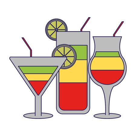 cocktails bar drinks cups vector illustration graphic design