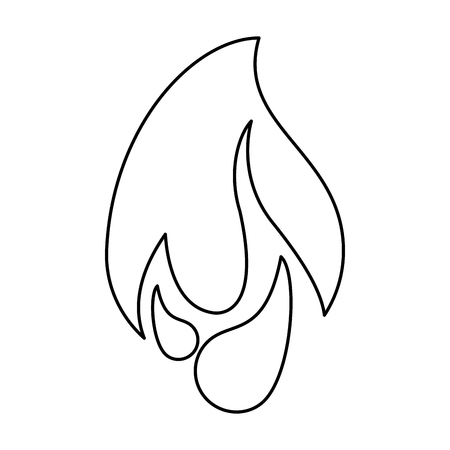 Fire flamme symbol isolated vector illustration graphic design