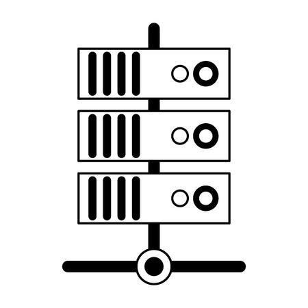 servers database technology symbol vector illustration graphic design