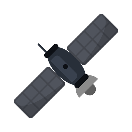 Satellite telecommunication technology isolated vector illustration graphic design