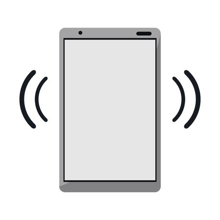 Smartphone with wifi internet signal vector illustration graphic design Ilustração