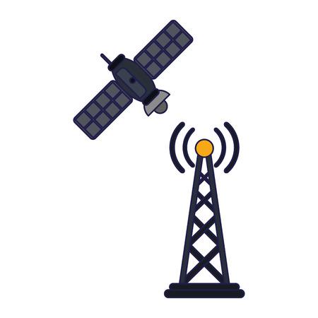 smartphone email sending around world symbol vector illustration graphic design
