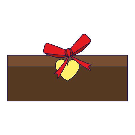 romantic goft box with bow symbol vector illustration graphic design Ilustración de vector