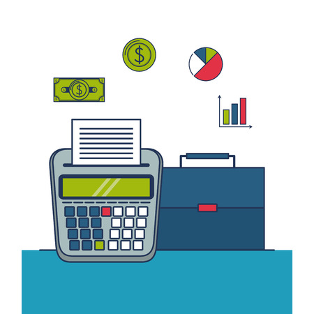 Taxes and business investment money symbols vector illustration  graphic design