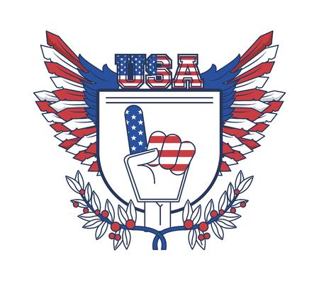 United States of America USA patriotic poster emblem vector illustration graphic design