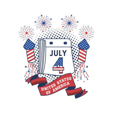 United States of America USA patriotic poster vector illustration graphic design