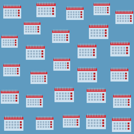 Calendar blue background pattern vector illustration graphic design
