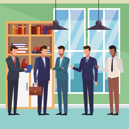 executive businessmen cartoon vector illustration graphic design Ilustração