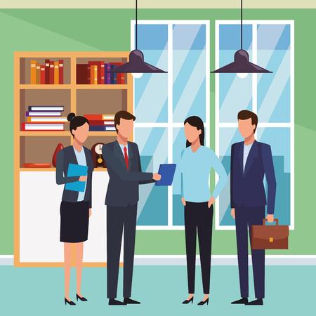 executive business coworkers cartoon vector illustration graphic design Banco de Imagens - 118223971