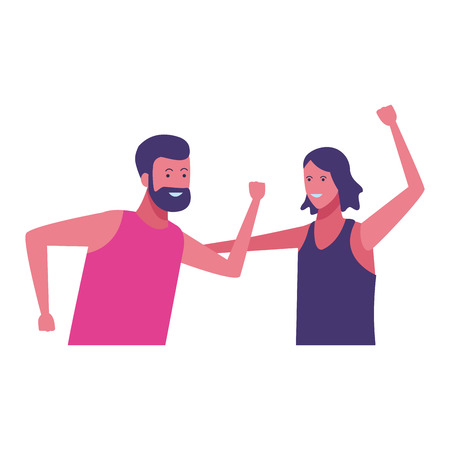 people couple dancing cartoon vector illustration graphic design Illustration