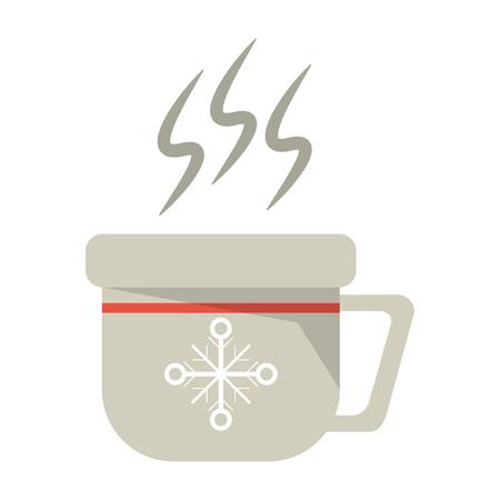 christmas hot coffee mug vector illustration graphic design
