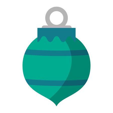 christmas decorative ball symbol vector illustration graphic design