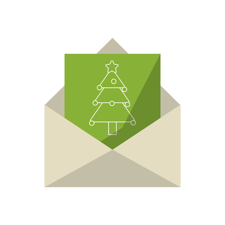 letter with christmas card vector illustration graphic design  イラスト・ベクター素材