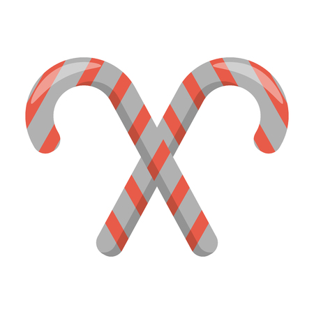 Christmas season stick candies cartoons vector illustration graphic design