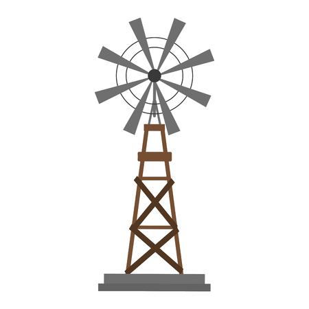 Bauernhof Windmühle Symbol Cartoon Vektor Illustration Grafikdesign